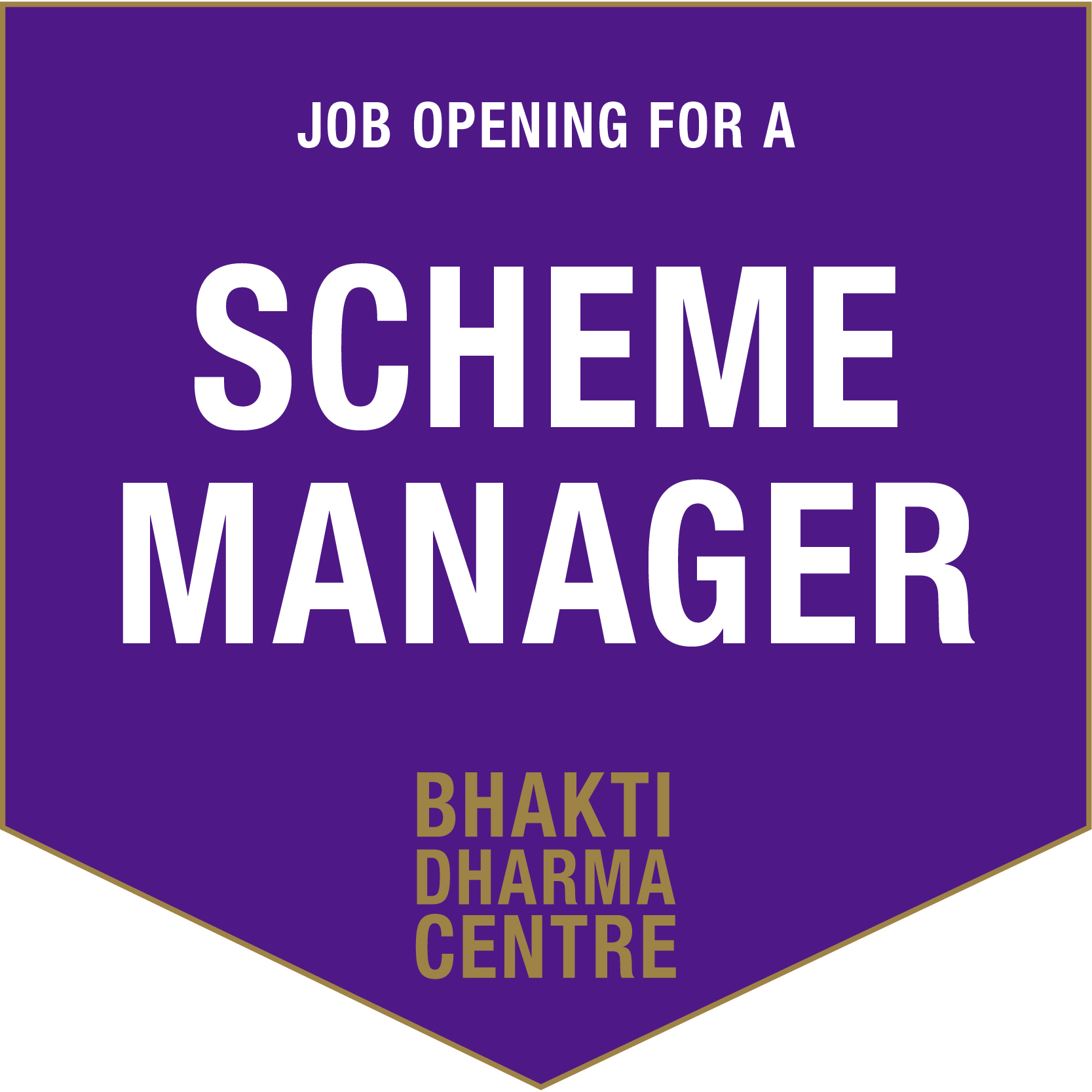 scheme manager Job advert